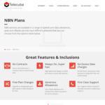 Telecube NBN - No Setup - 100/40 1000GB $75/Month