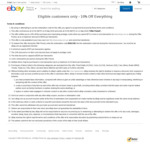 eBay 10% off Sitewide (Min Spend $75)