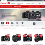 $50 off $500 Spend or $100 off $1000 Spend on Canon DSLR Cameras @ Canon Store