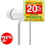 iLuv Peppermint Earphones Tangle-Free Cable (2 Pack) $8.46 Delivered (eBay Plus) @ KG Electronic eBay