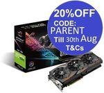 Asus Nvidia GeForce GTX 1080 ROG Strix OC 8GB GDDR5X $711.20 Delivered @ Futu_online eBay