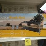 [QLD] Oztrail Deluxe Camping Double Bunk Bed $59 @ Big W Runaway Bay