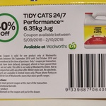 Tidy Cats 24/7 Performance Cat Litter 6.35kg Jug for $12 @ Woolworths (Coupon Required, in-Store Only)