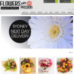 [NSW] 15% off All Flower Orders (Flat $12 Delivery, Sydney Only) @ Flowers with Passion