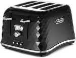 DeLonghi Brilliante Series 4 Slice Toaster Black - CTJ4003 $49 (Was $99) / Brilliante Series Black Kettle $39 (Was $79) @ Big W