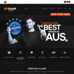 Boost Mobile Telstra 4G: $70/Mth 52GB Data or $50/Mth 32GB Data (+11GB First 5 Recharges) | Unlim Calls/Text, Data Roll, Int'l