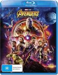 Avengers: Infinity War DVD $8, Blu-Ray $12, 3D $16, 4K $18 + Delivery (Free with Prime/ $49 Spend) @ Amazon AU
