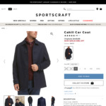 54%/63%/78% Wool Blend Men's Coat/Jacket $49 (Was $449.99-$229) + More Jackets (C&C or + Shipping) @ Sportscraft