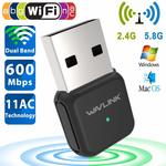 Wi-Fi Dual Band 802.11ac 600 Mb/s USB Adapter $8.99 (40% Off) + Delivery (Free with Amazon Prime/ $49 Spend) @ Wavlink Amazon