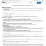 List & Sell A Video Game and Get a $10 Voucher @ eBay