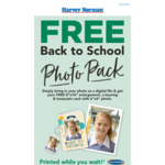 "Free Back to School Photo Pack (8x10"" Photo Enlargement, Keyring & Keepsake Card) @ Harvey Norman (In Store)"