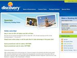 Discovery Holiday Parks - 40% off cabins & 30% off sites in June