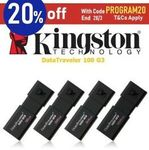Kingston DataTraveler USB 3.0 Flash Drive 64GB $13.56, 32GB $13.84 for 2, 16GB $14.80 for 3 + Del or Free eBay Plus @ Apus eBay