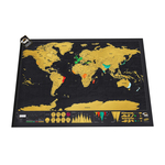 Scratch Map of The World Poster 42 x 30cm $23.69 + Free Shipping @ Travellers Scratch Map