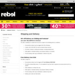 30% off Already Reduced Clothing (& 50% off Delivery) @ rebel