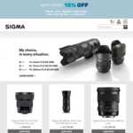 15% off Sitewide @ SIGMA Photo