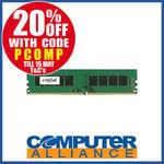 16GB DDR4 Crucial (1x16GB) 2400MHz RAM Module $111.2 + $15 Delivery (Free with eBay Plus) @ Computer Alliance eBay