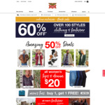 Up to 60% off Clothing and Footwear, Free Delivery on Orders over $70 @ Rivers