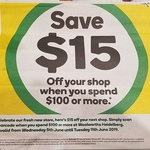 [VIC] Woolworths Heidelberg Reopening - $15 off (Min Spend $100)