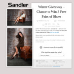 Win Three Pairs of Shoes Worth $400 from Sandler