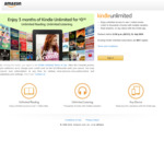 [Amazon Prime] 3 Months Kindle Unlimited for $0.00 (New Subscribers Only) @ Amazon AU