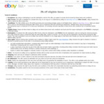 3% off $30 Minimum Spend (Max Discount $1000) on Eligible Items @ eBay Australia