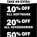 [VIC] 10% off Software, 20% off Accessories, 50% off Loot @ EB Games (Kangaroo Flat)