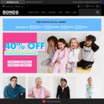 40% off Sitewide + Free Shipping and Returns + 20% Cashback via ShopBack @ Bonds