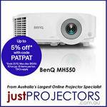 BenQ MH550 Full HD Projector $809.10 Delivered @ Just Projectors eBay