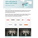 10% off Coles Myer Physical Gift Cards @ MotorOne Rewards/Good Guys Concierge (Membership Required)