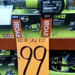 Ryobi One+ Cordless Reciprocating Saw Kit (2AH Battery and Charger Included) $99 @ Bunnings