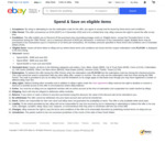 $15 off $200+, $50 off $500+, $100 off $1000+ Spend (Eligible Items) @ eBay