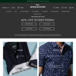 40% off Sitewide @ Rodd & Gunn (Free Shipping over $100 Spend)