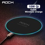 ROCK 10W Qi Fast Wireless Charger w/LED Breathing Light US $4.38 (~AU $6.45) Delivered @ Rock AliExpress