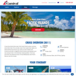 Carnival Splendor - Sydney Return - 8 Nights Pacific Islands Cruise (11 to 19 March 2020) - from $566pp (Triple) $649 (Twin)