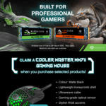 Free CoolerMaster MM711 with Seagate FireCuda and Barracuda m.2 NVMe Purchases (Selected Retailers and Selected models)