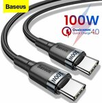 Baseus 0.5M PD 60W Type-C To Type-C Cable US $1.62 (~AU $2.48) BASEUS Officialflagship Store @AliExpress