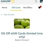 5% off Woolworths Wish Gift Cards (Was 4%) @ Suncorp Rewards