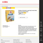 Pedigree Dentastix (All Sizes) 28 Pack - $12 (Was $17.50) @ Coles & Woolworths