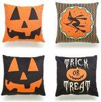 4PCS Happy Halloween Square Decorative Cushion Cover $6.99 + Delivery ($0 w/ Prime/ $39 Spend) @ Amazon AU