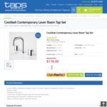 Caroma Coolibah Contemporary Lever Basin Tap Set - 20% off - $176 @ Taps and More
