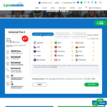 Unlimited Plan S with 40GB Data for $10/28 Days @ Lycamobile (First Month & New Customers Only)