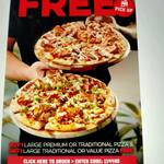 Buy 1 Large Premium / Traditional Pizza, Get 1 Free Traditional/Value Pizza (Pick up) @ Domino's Pizza (Selected Stores)