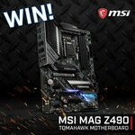 Win an MSI MAG Z490 Tomahawk Motherboard from PC Case Gear