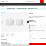 Google Nest Wi-Fi 2 Pack - $318.11 + 2000 QFF Points + Delivery @ Qantas Store