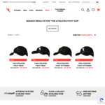 Unisex Peak Trucker or Ottoman Baseball Cap, Black or Black&White $9.99 (Was $29.99) + Free C&C from Store @ The Athlete's Foot