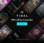 TIDAL Premium/Hifi Music Streaming - 90 Days $4 (New Users)