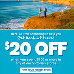 [VIC] $20 off $100 Spend @ Anaconda (In-store Only)