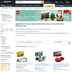 [GWP] Spend $50 or More on Selected LEGO & Receive a Free LEGO Creator Christmas Tree @ Amazon AU