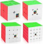 D-FantiX SpeedCube Stickerless Set, Moyu 2x2 3x3 4x4 5x5 with GiftBox $22.39 (Was $36.99) + Delivery ($0 with Prime) @ Amazon AU